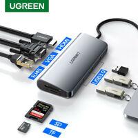Ugreen USB C to USB 3.0 Hub Type C Adapter 3.1 HDMI VGA Converter SD Card Reader