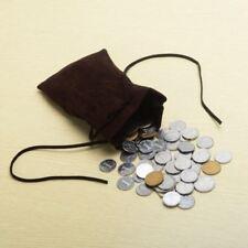 Medieval Pagan SCA Reenactment Money Bag Drawstring Velvet Bag Coin Purse Pouch