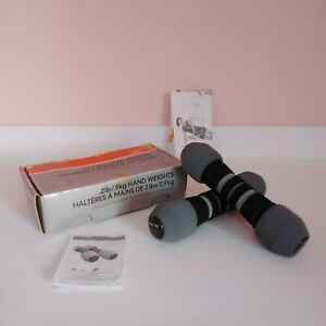 Nike Soft Grip Hand Weights / Dumbbells 2lb boxed FAST P&P