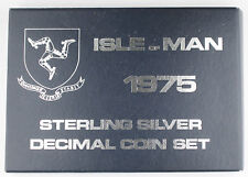 Isle of Man 1975 Sterling Silver 6 Decimal Coin Mint Set GEM BU + Box & COA