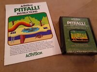 PITFALL by ACTIVISION for Atari 2600 ▪︎ CARTRIDGE AND MANUAL ▪︎