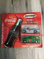 Matchbox 1950's Coke Collection 1957 Bel Air Convertible & FJ Holden Panel Van