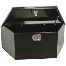 Trailer Tongue Box Tool Storage Steel Horse Boat RV Truck ATV Towing Tractor Blk