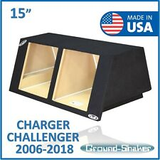 "Dodge Challenger 15"" Dual Sub box Subwoofer Enclosure For Kicker Solo baric 15"""