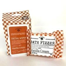 Bolero Beverly Hills 30 facial wipes & bath fizzer vanilla cream set