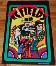 W.C. FIELDS Collage Flocked Blacklight Poster 1975 Dynamic Pub Collector Series7