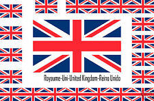 Assortiment de10 autocollants Vinyle stickers drapeau Royaume-Uni-United-Kingdom