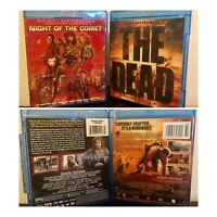 Horror Zombie Bluray Movie Lot: Night Of The Comet Collector's Edition +The Dead