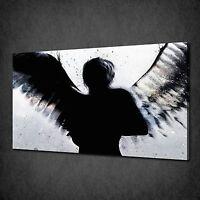 BANKSY DARK ANGEL STENCIL GRAFFITI CANVAS PRINT ART PICTURE FREE UK P&P