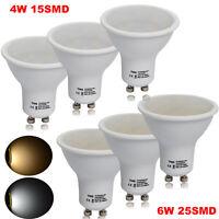 10/4x 4W=40W 6W=55W GU10 LED SMD Bulbs Spotlight Soft Warm Day White Light Lamps