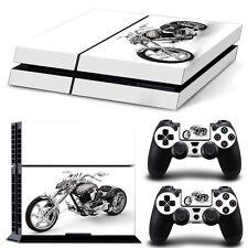 Sony PS4 Playstation 4 Skin Design Sticker Screen Protector Set - Dragon Bike