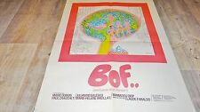 BOF  !   affiche cinema bd dessin vintage 1970 sempe