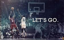 "28 LeBron James Miami Heat 2012 NBA Champion MVP vs Kevin Durant 38""x24"" Poster"