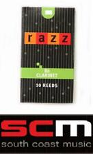 NEW RAZZ CO Bb CLARINET 2.5 REEDS BOX OF 10 CLEARANCE SALE PRO REED QUALITY CANE