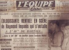 journal  l'équipe  du 11/07/48 CYCLISME TOUR DE FRANCE 1948  BOXE CERDAN