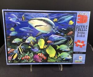 Super 3D Puzzle Shark Waters 500 Pieces Animal Jigsaw Puzzle New Sealed Box