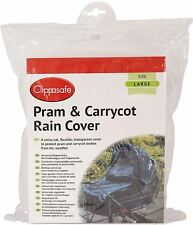 Clippasafe UNIVERSAL PRAM/CARRYCOT LARGE RAIN COVER Child Travel Safety BNIB