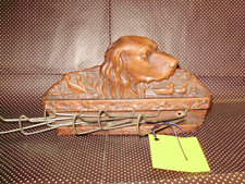 Vintage Tie or Belt Rack Syroco Wood with Irish Setter and Water Birds mid 50's