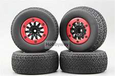 4pcs RC 1/10 Bead Lock Short Course Tire Tyre Set 12mm hex 1/2 offset 30003