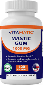 Vitamatic Mastic Gum 1000mg per Serving - Support Digestive Function, Gastrointe