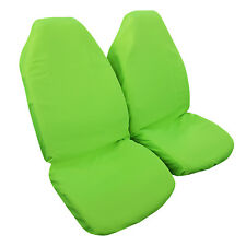 2PCS Throw Over Slip On Fluro Green Car Seat Covers Easy Fit Most Bucket Seats