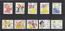 JAPAN 2015 DISNEY (PRINCESSES) COMP. SET OF 10 STAMPS IN FINE USED CONDITION