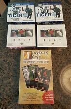 5 Box Lot Masters 98 2001 2002 UPPER DECK GOLF BOXES BOX TIGER WOODS ROOKIE AUTO