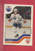 RARE 1983-84 OILERS DAVE HUNTER  VACHON FOOD   CARD
