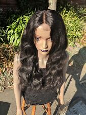 Human Hair Wig, Body Wave, Natural Black, 22""
