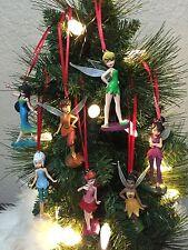 Disney Christmas 7 PC Ornament Set Tinkerbell And Fairies