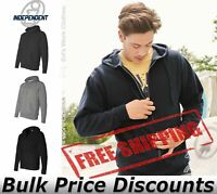 Independent Trading Co Full-Zip Hooded Sweatshirt Blank AFX4000Z up to 3XL