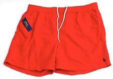Polo Ralph Lauren Red Nylon Brief Lined Swim Trunks Swim Shorts Men's NWT