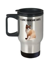 Snowshoe Cat Travel Mug - I love Snowshoe - Funny Tea Hot Cocoa Coffee -.