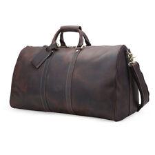 Vintage Large Men's Leather Travel Luggage Duffle Gym Carry On Bag Shoulder Bag