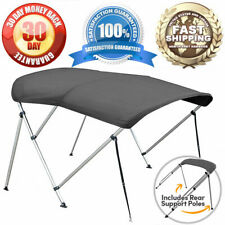 """3 BOW BOAT BIMINI TOP KIT GREY 6FT COVER WITH HARDWARE 6' L x 46"""" H x 79""""-84"""" W"""