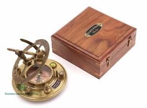 Top Grade Gilbert & Son London Sundial Compass/Perfectly Calibrated Compass