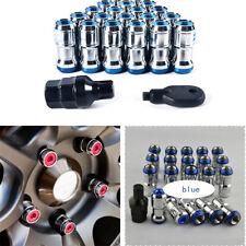 20 Pcs M12 X1.5 Car Lug Wheel Hub Anti-theft Lock Nuts Screw Blue Alloy Steel