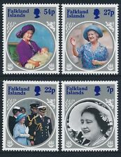 1985 FALKLAND ISLANDS LIFE & TIMES OF THE QUEEN MOTHER SET OF 4 FINE MINT MNH