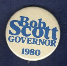 BOB SCOTT NORTH CAROLINA GOVERNOR 1980 COMEBACK DEMO POLITICAL BUTTON PINBACK