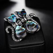 Cute Women Rhinestone Cat Animal Metal Brooch Lapel Pin Fashion Accessories Gift