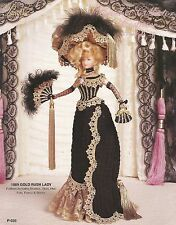 1889 Gold Rush Lady #24 Paradise Crochet Collector Costume Fashion Doll Pattern