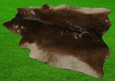 """New Cowhide Rugs Area Cow Skin Leather 19.86 sq.feet (55""""x52"""") Cow hide A-5890"""