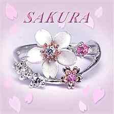Maiko Sakura Jewel Ring Silver x K10 Pink Gold Cherry Blossom from JAPAN NEW F/S