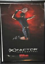Roger Federer Wilson (K)Factor Take (K)ontrol Tennis Poster Vintage (27)