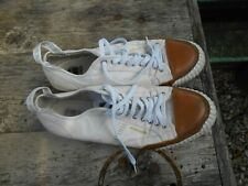 RARES BASKETS CHAMPION Toile Blanches T 45 Abe Vintage