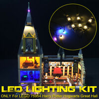 LED Light Lighting Kit ONLY For LEGO 75954 Great Hall Toy USB Powered ∞ e q Q ︾