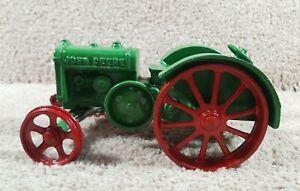 Custom  ERTL Cast Iron John Deere 1923 Model D Tractor Steel Wheels Farm Toy