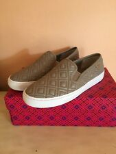 007e5c5d5ae0cc Tory Burch Jesse Women Quilted Sneakers Gray Leather Sz 7 NWB