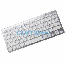 O22 Bluetooth BT KEYBOARD TASTIERA WIRELESS argento per Smartphone Tablet PC