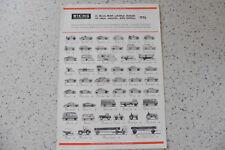 Wiking traffico modelli 1/87 h0 catalogo/opuscolo 1976 Top
